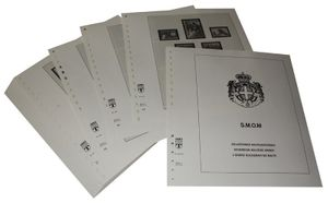 Maltese order, sovereign - Illustrated album pages Year 1983-1992
