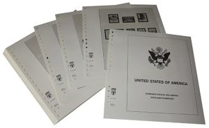 USA Reg. Issues, Commemoratives and Airmails Stamps - Illustrated album pages Year 1978-1983