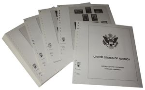 USA Reg. Issues, Commemoratives and Airmails Stamps - Illustrated album pages Year 1984-1989