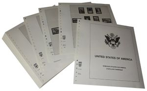 USA Reg. Issues, Commemoratives and Airmails Stamps - Illustrated album pages Year 1990-1994