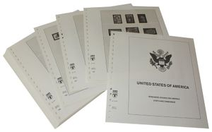 USA Reg. Issues, Commemoratives and Airmails Stamps - Illustrated album pages Year 1995-1998