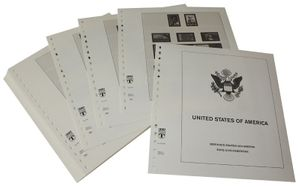 USA Reg. Issues, Commemoratives and Airmails Stamps - Illustrated album pages Year 1999-2002