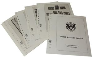USA Reg. Issues, Commemoratives and Airmails Stamps - Illustrated album pages Year 2003-2008