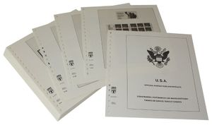 USA Booklets and Self-adhesive Panes - Illustrated album pages Year 2001-2008