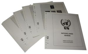 United Nations GENEVA - Illustrated album pages Year 1969-1997