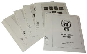 United Nations NEW YORK - Illustrated album pages Year 1951-1981