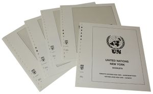United Nations NEW YORK Booklets - Illustrated album pages Year 1995-2016