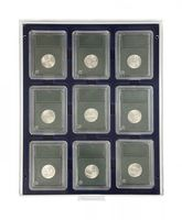 Coin box MARINE with rectangular compartments, suitable for 9 US coin capsules (SLABS) up to a size of 63 x 85 mm.  – Bild 2