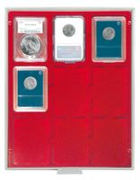 Coin box STANDARD with rectangular compartments, suitable for 9 US coin capsules (SLABS) up to a size of 63 x 85 mm.  – Bild 1