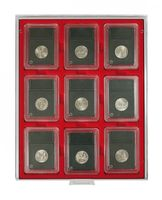 Coin box STANDARD with rectangular compartments, suitable for 9 US coin capsules (SLABS) up to a size of 63 x 85 mm.  – Bild 2