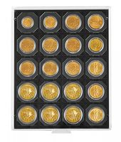"Coin box CARBO with 20 square compartments, suitable for coin holders 50 x 50 mm (2"" x 2"") and CARRÉE or OCTO coin capsules – Bild 2"