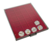 Coin box SMOKED GLASS with 24 square compartments, suitable for coins and coin capsules with an external Ø up to 42 mm.  – Bild 2
