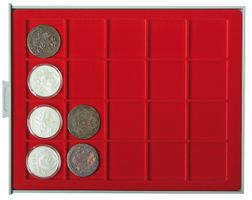 Coin box STANDARD with 20 square compartments, suitable for coins and coin capsules with Ø up to 47 mm  – Bild 2