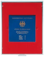 Coin box STANDARD with einem quadratischen Fach for Originally sealed 10 DM commemorative coins (PP) with all 5 mint initals – Bild 1