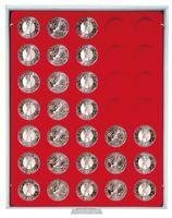 Münzbox STANDARD mit 35 runden Vertiefungen für Münzen mit Ø32,5 mm, z.B. für deutsche 20 Euro- bzw. 10 Euro-Silbermünzen – Bild 2