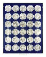 Coin box MARINE with 30 round compartments, suitable for coins with an external Ø of 39,5 mm, e.g. for 20 or 10 EURO silver coins GERMANY in LINDNER coin capsules.  – Bild 1