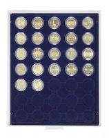 Box monnaies MARINE à 35 alvéoles ronds pour capsules Ø ext. 32 mm, par ex. pour 2 Euro sous capsules LINDNER  – Bild 1
