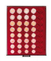 Münzbox RAUCHGLAS für 5 Euro-Kursmünzensätze in LINDNER Münzkapseln  – Bild 1
