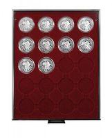 Box per monete RAUCHGLAS con 20 incavature tonde per capsule per monete con Ø 44 mm esterno – Bild 1
