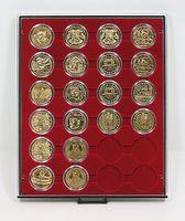 Box per monete RAUCHGLAS con 24 incavature tonde per capsule per monete con Ø 41 mm esterno – Bild 1