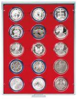 Box per monete STANDARD con 15 incavature tonde per capsule per monete con Ø 51 mm esterno – Bild 1