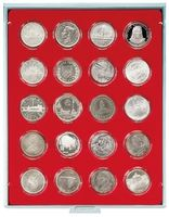 Box per monete STANDARD con 20 incavature tonde per capsule per monete con Ø 42 mm esterno – Bild 1