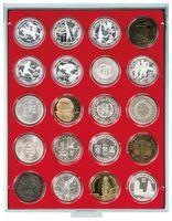 Box per monete STANDARD con 20 incavature tonde per capsule per monete con Ø 48 mm esterno – Bild 1