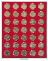 Coin box STANDARD with 35 ound compartments for coin capsules with an external Ø of 32 mm, e.g. for 2 EURO coins in LINDNER coin capsules – Bild 1