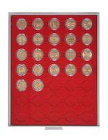 Box per monete STANDARD con 35 incavature tonde per capsule per monete con Ø 32 mm esterno, per es. per monete 2 Euro in capsule LINDNER – Bild 2