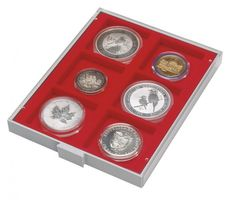 d-box STANDARD with 6 square compartments 85 x 85 mm for coins, medals and other collectibles – Bild 1