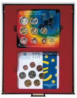 d-box SMOKED GLASS with 2 rectangular compartments 140 x 123 mm for 2 x 5 original, uncirculated EURO coin sets Germany 2002-2014 – Bild 1