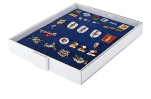 Collection Box STANDARD with a blue foam insert for pins, medals, emblems etc.  – Bild 2