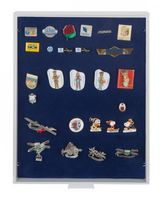 Collection Box STANDARD with a blue foam insert for pins, medals, emblems etc.  – Bild 1