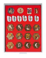 Collection Box STANDARD with a red foam insert for pins, medals, emblems etc.  – Bild 1