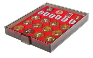 Collection Box SMOKED GLASS with a red foam insert for pins, medals, emblems etc.  – Bild 2