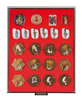 Collection Box SMOKED GLASS with a red foam insert for pins, medals, emblems etc.  – Bild 1