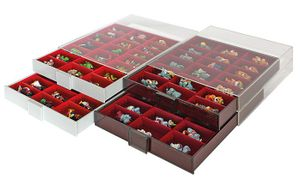 Collection Box SMOKED GLASS with 3 compartments and 8 movable dividers for individual configuration 220 x 280 x 29 mm  – Bild 6