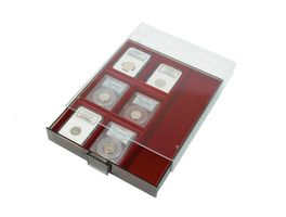 Collection Box SMOKED GLASS with 3 compartments and 8 movable dividers for individual configuration 220 x 280 x 29 mm  – Bild 2