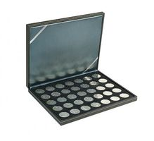 NERA M coin case with a black insert with 35 ound compartments. Suitable for coins with Ø of 32,5 mm, e.g. 10 and 20 EURO silver coins GERMANY.  – Bild 1