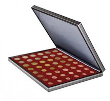 NERA M coin case with a dark red insert. Suitable for 6 EURO coin sets.  – Bild 2