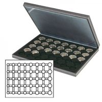 NERA M coin case with a black insert. Suitable for 5 EURO coin sets in LINDNER coin capsules.  – Bild 1