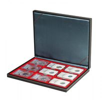 NERA M coin case with a light red insert. Suitable for 9 slabs up to a size of 63 x 85 mm.  – Bild 2