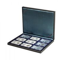 NERA M coin case with a dark red insert. Suitable for 9 slabs up to a size of 63 x 85 mm.  – Bild 2