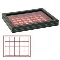 Кассета NERA M PLUS со светло-красным планшетом на 20 квадратных ячеек для размещения монет/монетных капсул диаметром до 47 мм  – Bild 1