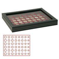 Кассета NERA M PLUS с тёмно-красным планшетом для размещения 6 годовых наборов монет евро – Bild 1