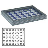 Münzkassette NERA M PLUS mit dunkelblauer Münzeinlage für  6 Euro-Kursmünzensätze – Bild 1