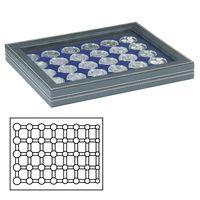Кассета NERA M PLUS с тёмно-синим планшетом для размещения 5 годовых наборов монет евро в капсулах LINDNER – Bild 1