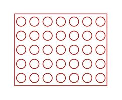 Coin case NERA XL with 3 trays and light red coin inserts for 105 coins with Ø 32,5 mm, e.g. for german 20 Euro- / 10 Euro-commemorative coins – Bild 3