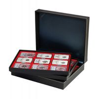Coin case NERA XL with 3 trays and light red coin inserts for 27 US-coin capsules (Slabs) up to 63x85 mm – Bild 2