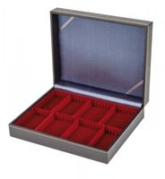 Collection case NERA VARIUS with dark red inserts with 2 flexible divided compartments – Bild 1
